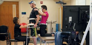 A paralyzed male makes terrific strides with spine stimulation and rehabilitation