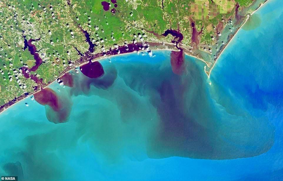 NASA Satellite Photos Program Polluted Rivers Dumping Into The Carolina Coast