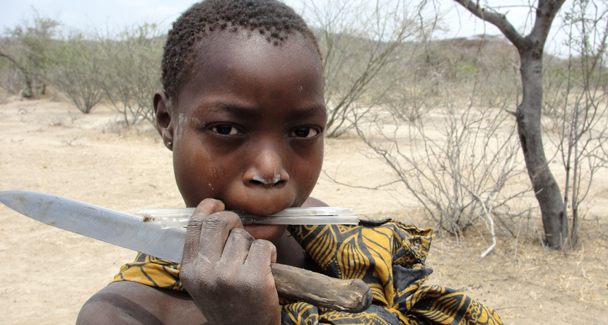 The method hunter-gatherers share food demonstrates how cooperation developed