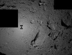Tiny rovers see their shadow on the asteroid they will arrive on