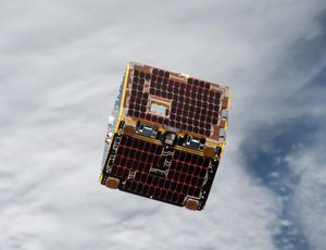 See a satellite play Spider-Man and net area scrap in orbit