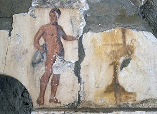 Naked Servant Depicted in Recently Found 2,200- Year-Old Burial Place Mural