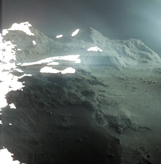 New Image Reveals the Rugged Landscape of Comet 67 P