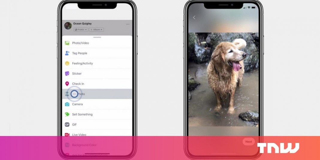 Facebook now lets you publish 3D images that leap out of your Newsfeed