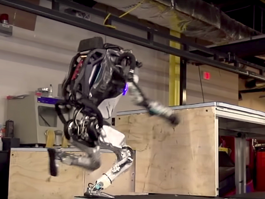 Boston Characteristics' humanoid robotic can now leap up stairs like a parkour pro