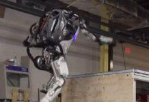 Atlas the robotic does parkour video