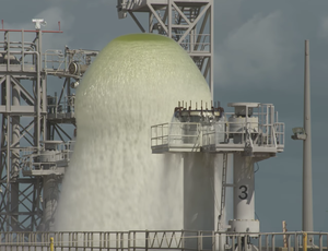View NASA release 450,000 gallons of water in 1 minute