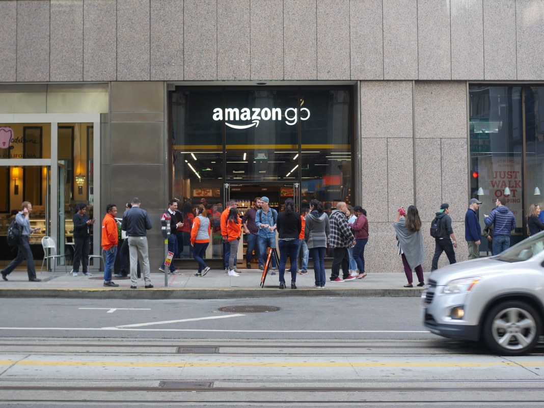 The cashier-less Amazon Go shop simply opened in San Francisco. Here's an appearance within. (AMZN)