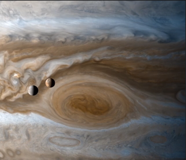 Being Cassini. Experience What It Resembled to Fly Past Jupiter and Saturn and Their Moons