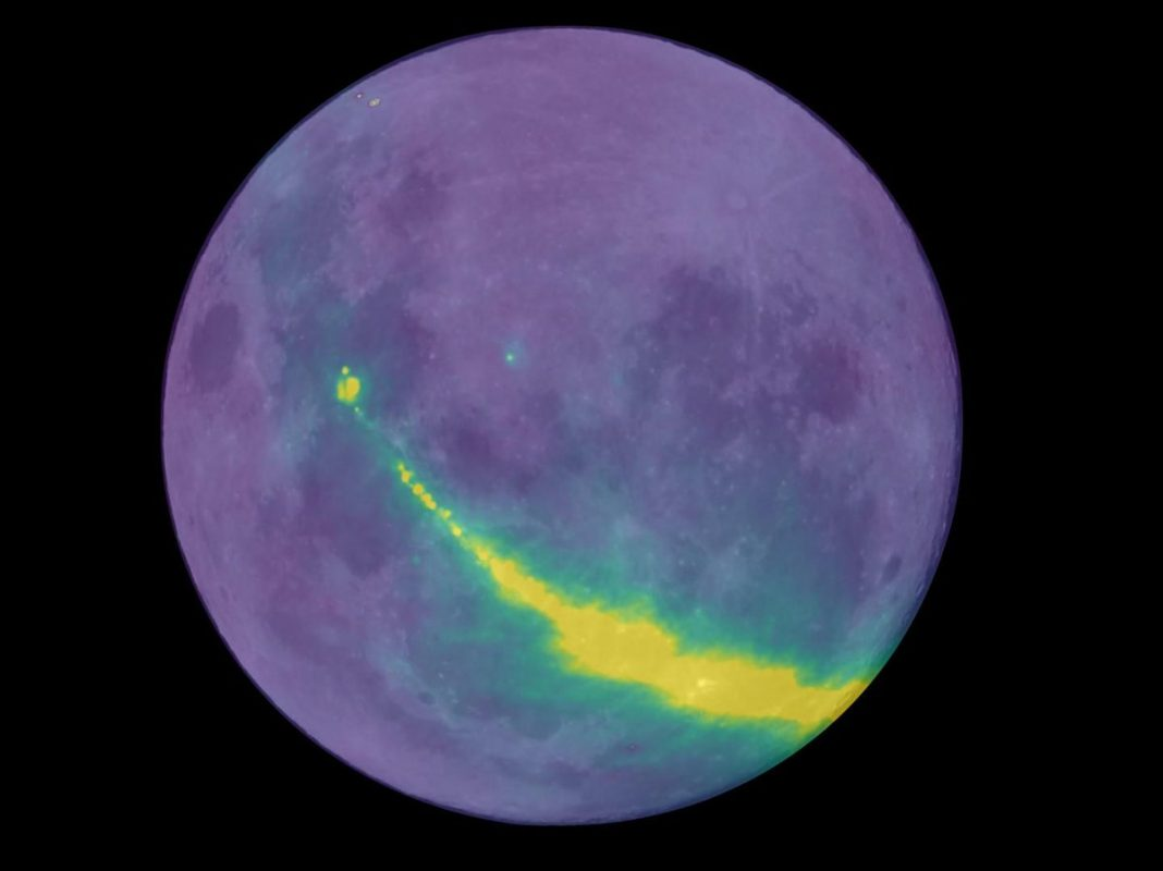 Whoa. That's the Galaxy, Bouncing off the Moon in Radio Waves