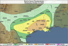Extreme Thunderstorms Are Possible Throughout The South On Halloween