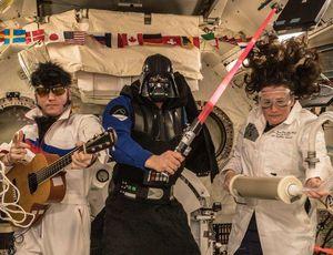 Star Wars, Elvis haunt the ISS on Halloween