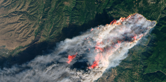 Satellite pictures of the California wildfires expose their amazing damage from area