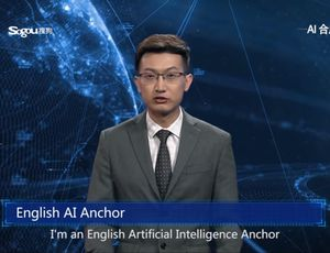 Watch this creepy AI anchor speak like an actual individual