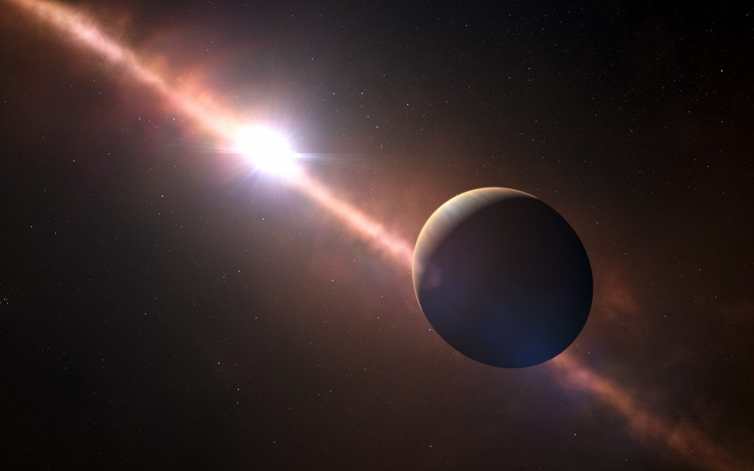 Direct Observations of a World Orbiting a Star 63 Light-Years Away