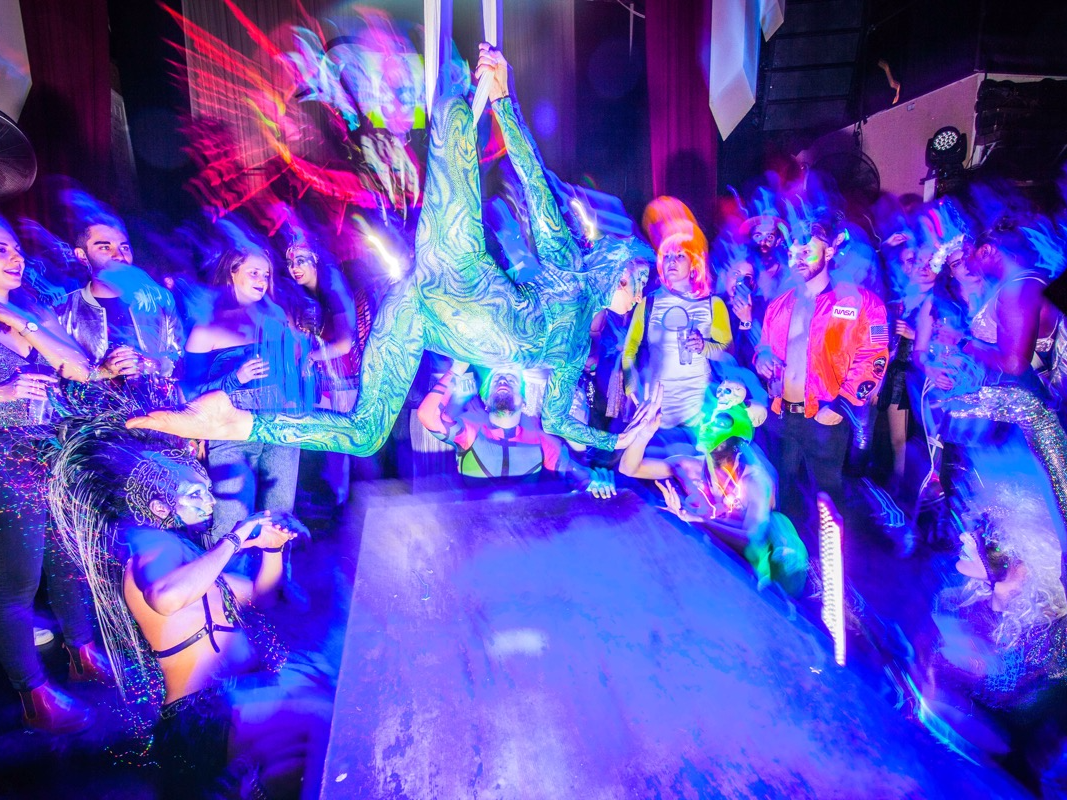 I partied at the Brooklyn club called the second finest thing to do worldwide. It was a wild night of dance celebrations, gravity-defying efficiencies, and insane outfits.