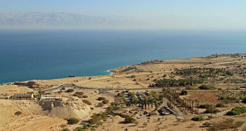 A taking off meteor might have eliminated ancient Dead Sea neighborhoods