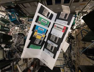 ISS astronaut discovers NASA floppies in area