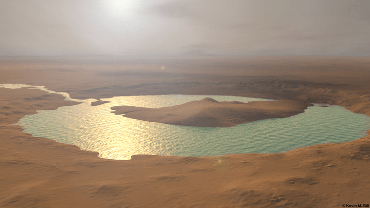 Lakes on Mars Filled so Rapidly They Would Overrun Catastrophically Sculpting Canyons Within Weeks