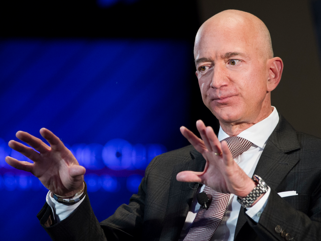 Jeff Bezos images Amazon as an inverted pyramid, in which he is the least essential individual at the bottom