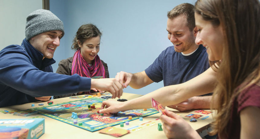 Why a chemistry instructor began a science parlor game business