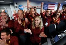 NASA's InSight sticks its Martian landing video