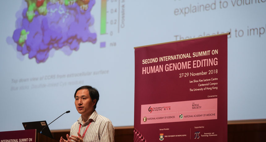 The scientist who produced CRISPR twins protects his work however stops working to stop debate