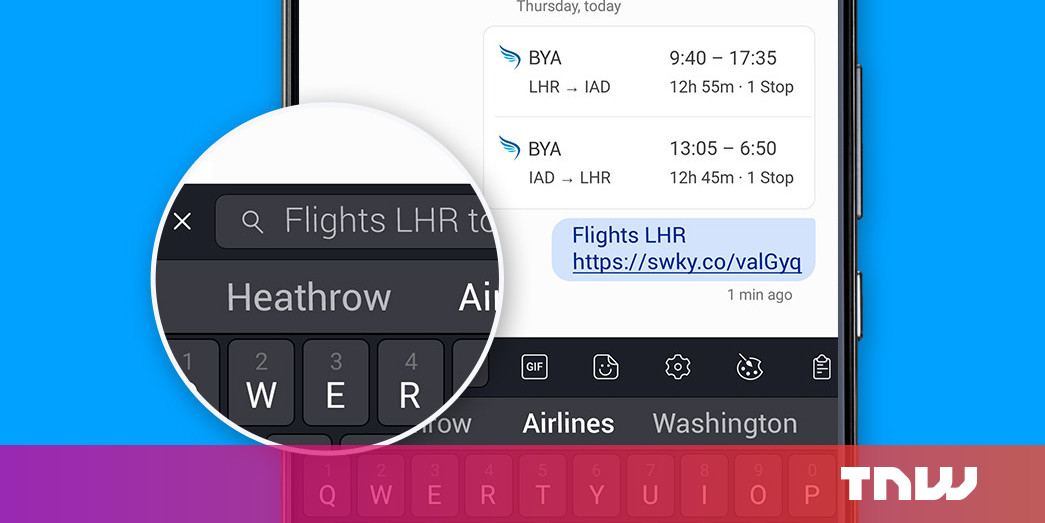 SwiftKey includes a remarkably convenient search bar to its Android keyboard