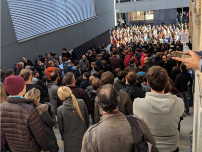 Google walkout live: Pictures of Google employees leaving their desks in demonstration over sexual misbehavior