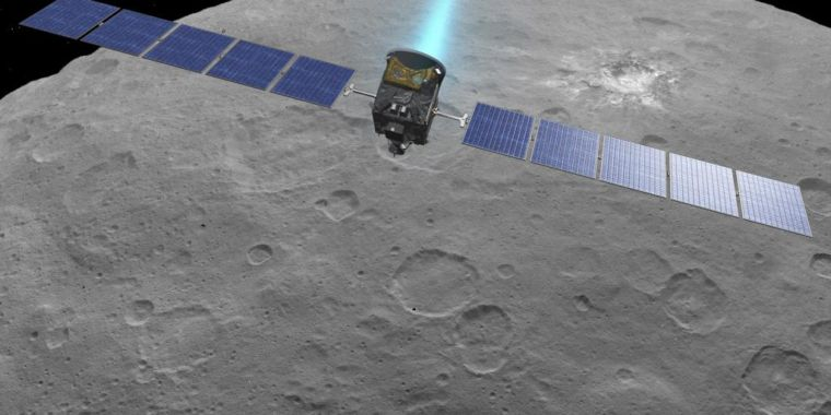The Dawn spacecraft checking out the asteroid belt has actually gone dark
