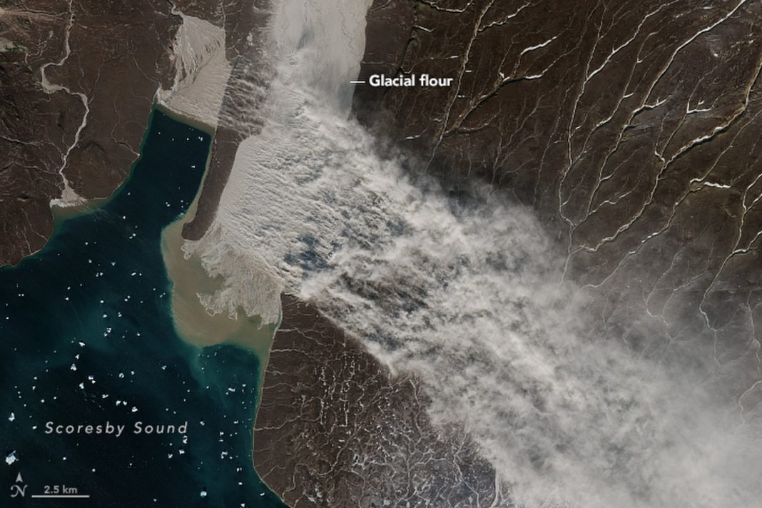 Glaciers Produced a Substantial 'Flour' Dust Storm in Greenland