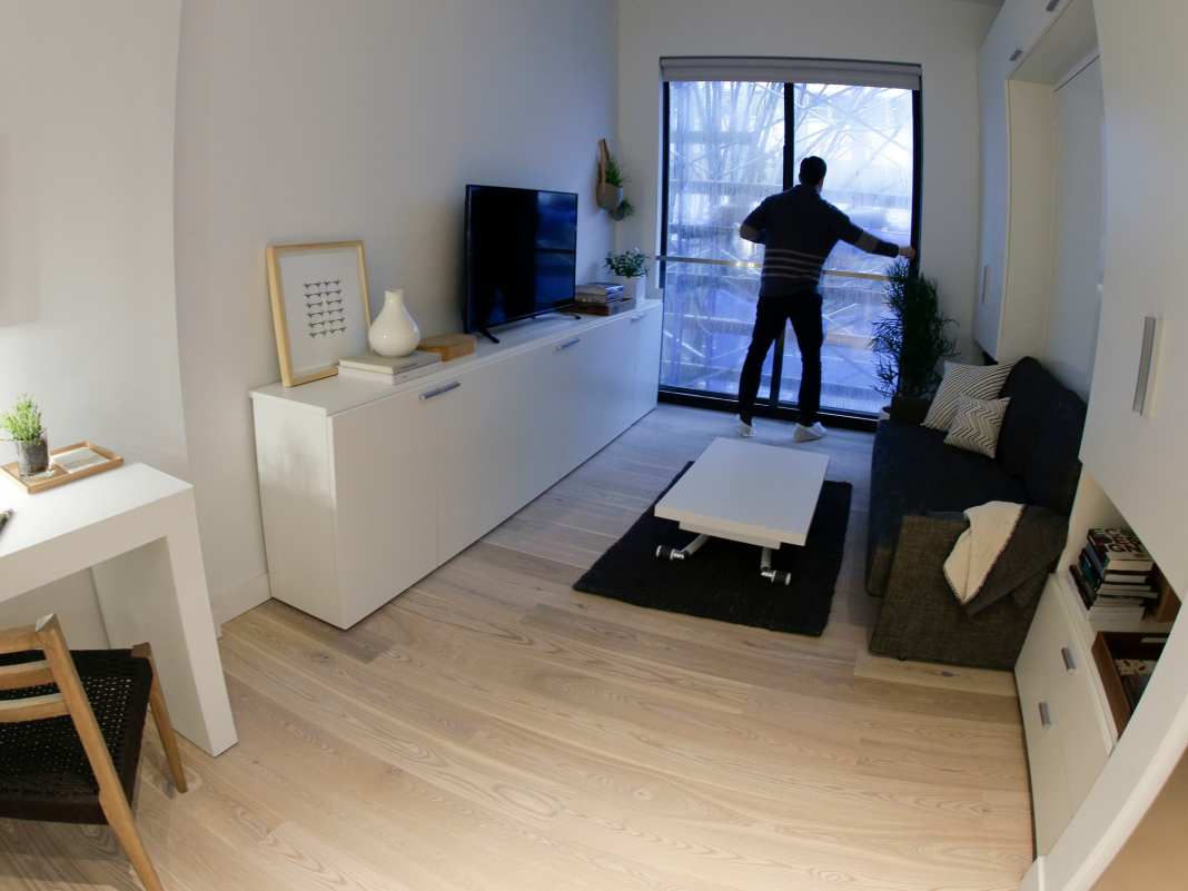 50 images of New york city City microapartments demonstrate how small living can be attractive– or frustrating