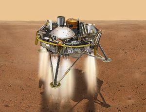 NASA compares Mars InSight lander parking area to kale salad