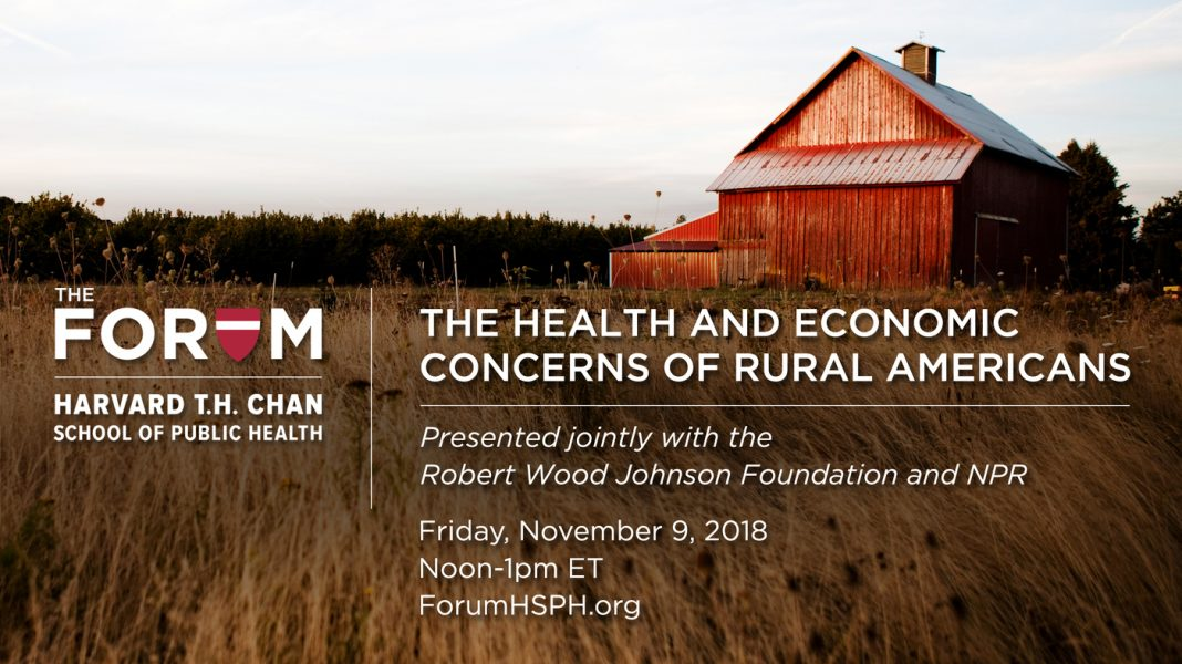 Online forum: The Health And Economic Issues Of Rural Americans