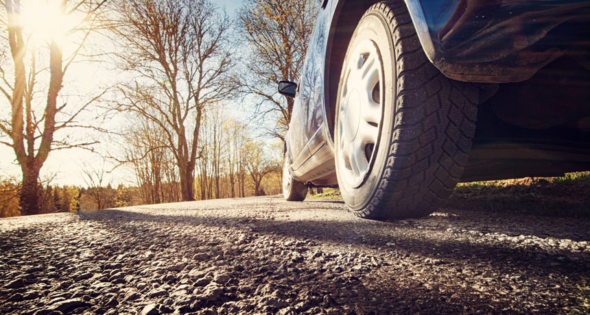 Vehicle tires and brake pads produce hazardous microplastics