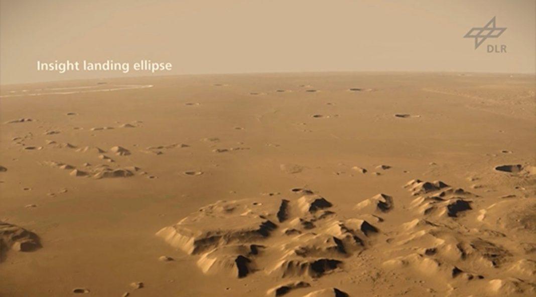 Skyrocket Over NASA's InSight Landing Website on Mars in This Spectacular Video