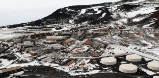 Structure Gas Stations and McMurdo Scale Outposts on the Moon