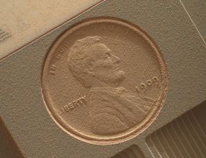 NASA's Lincoln cent on Mars demonstrates how difficult the wind blows