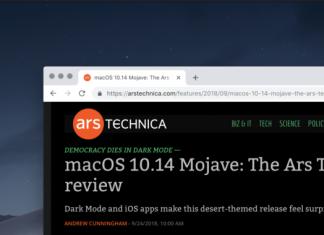 macOS Mojave's dark mode is pertaining to Google Chrome