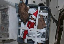 NASA astronaut finds Christmas fairy on the ISS