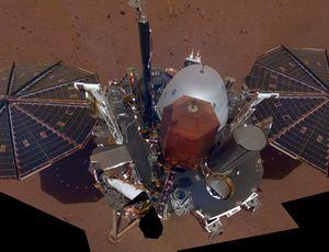NASA's InSight lander takes its very first Mars selfie