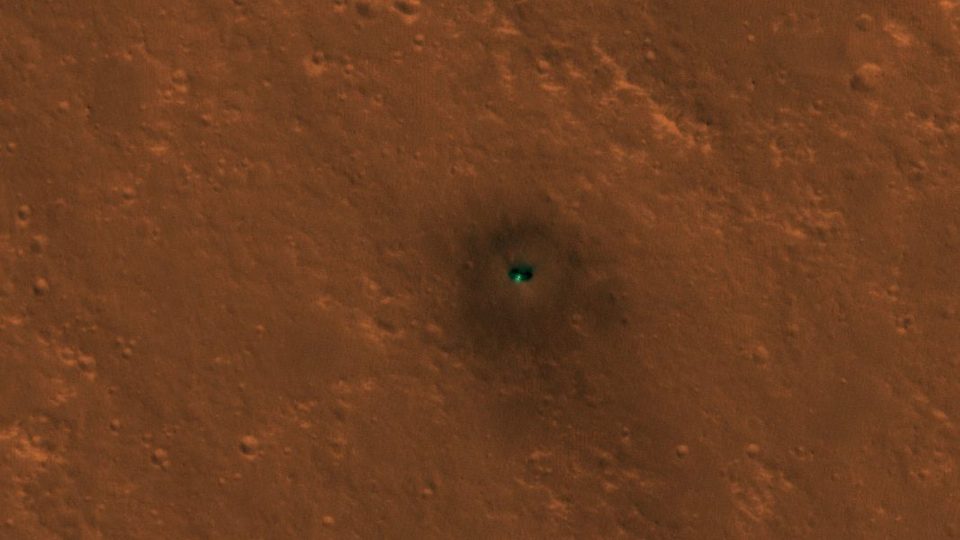 NASA's Insight Lander on Mars Found from Area