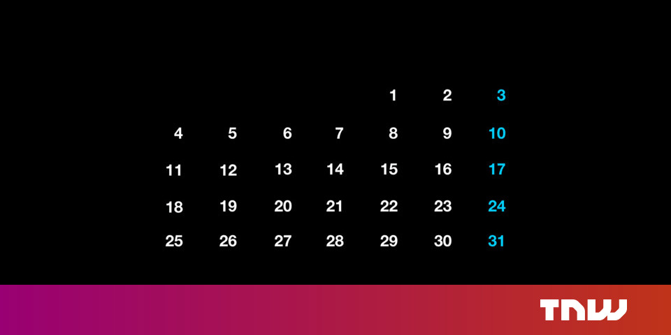 Here's why calendars look the method they do