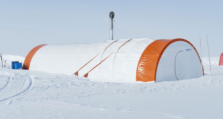 A drill developed for Mars is being utilized to bore into Antarctic bedrock