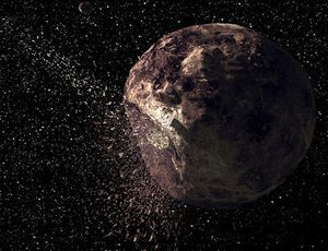 Asteroid all of a sudden displays a comet-like tail