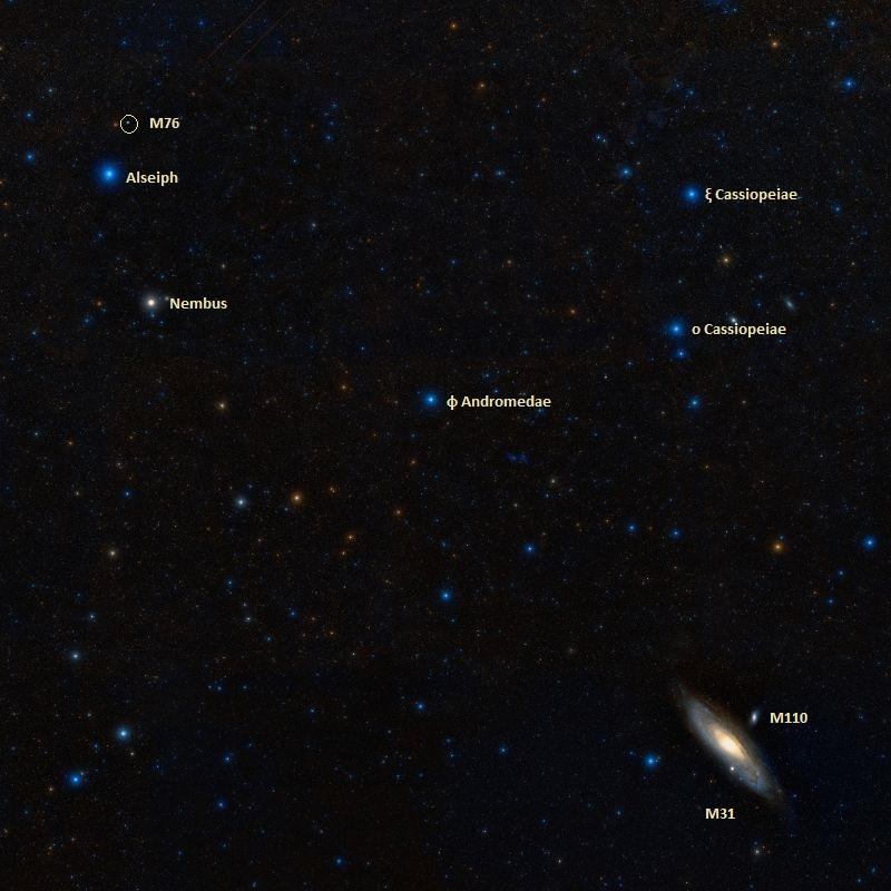Messier 76– the NGC 650/651 Planetary Nebula