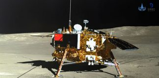 Extraordinary Descent Video of the Chinese Lander to the Lunar Far Side
