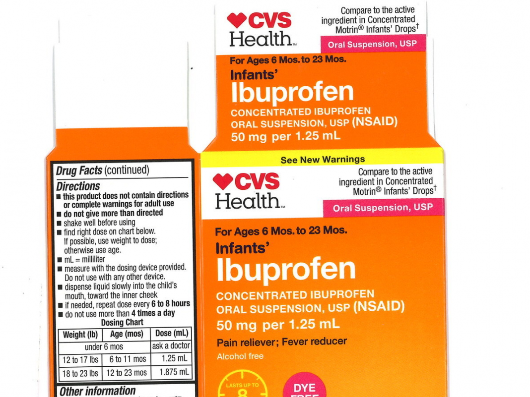 Baby ibuprofen recall broadened to consist of 3 extra lots offered under CVS and Walmart brand names