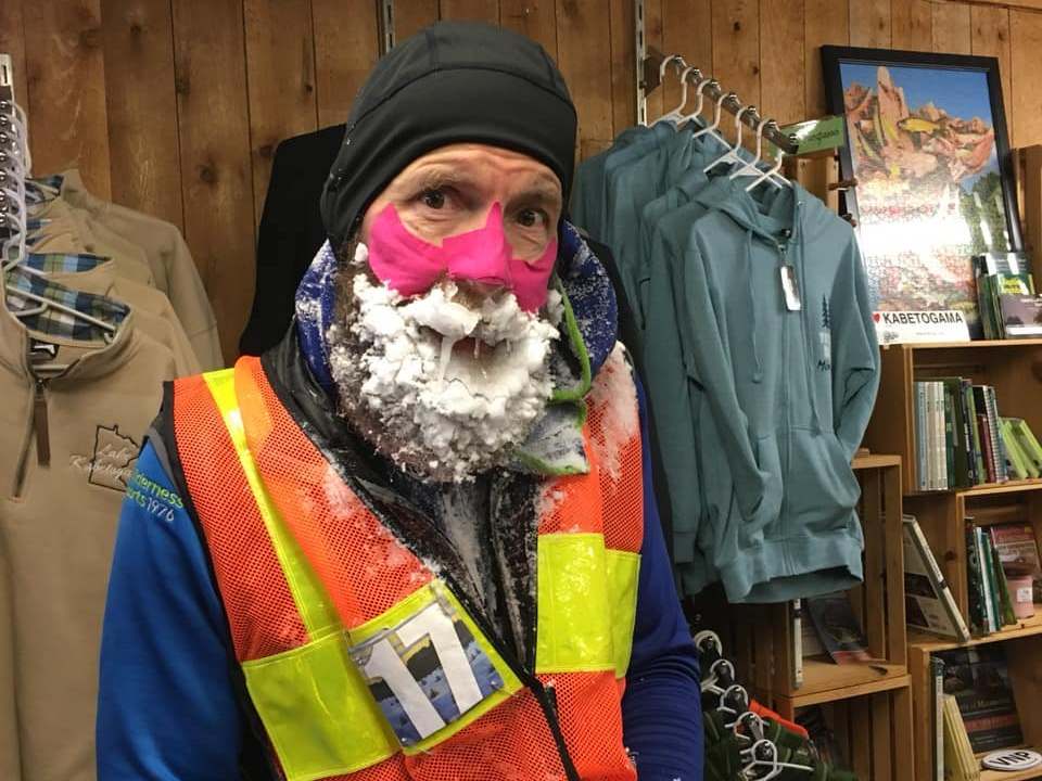 In the middle of the polar vortex, 52 individuals finished this 135- mile ultramarathon in northern Minnesota– cycling, snowboarding, and going through the coldest corner of America
