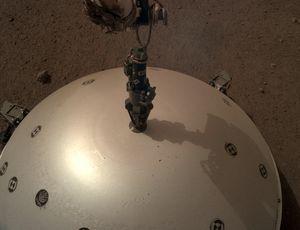 NASA Mars lander covered its seismometer like a premium meal